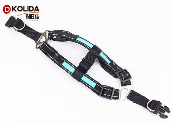 Blue / Green / Pink Luminious Nature Nylon LED Dog Harness 2.5x50cm